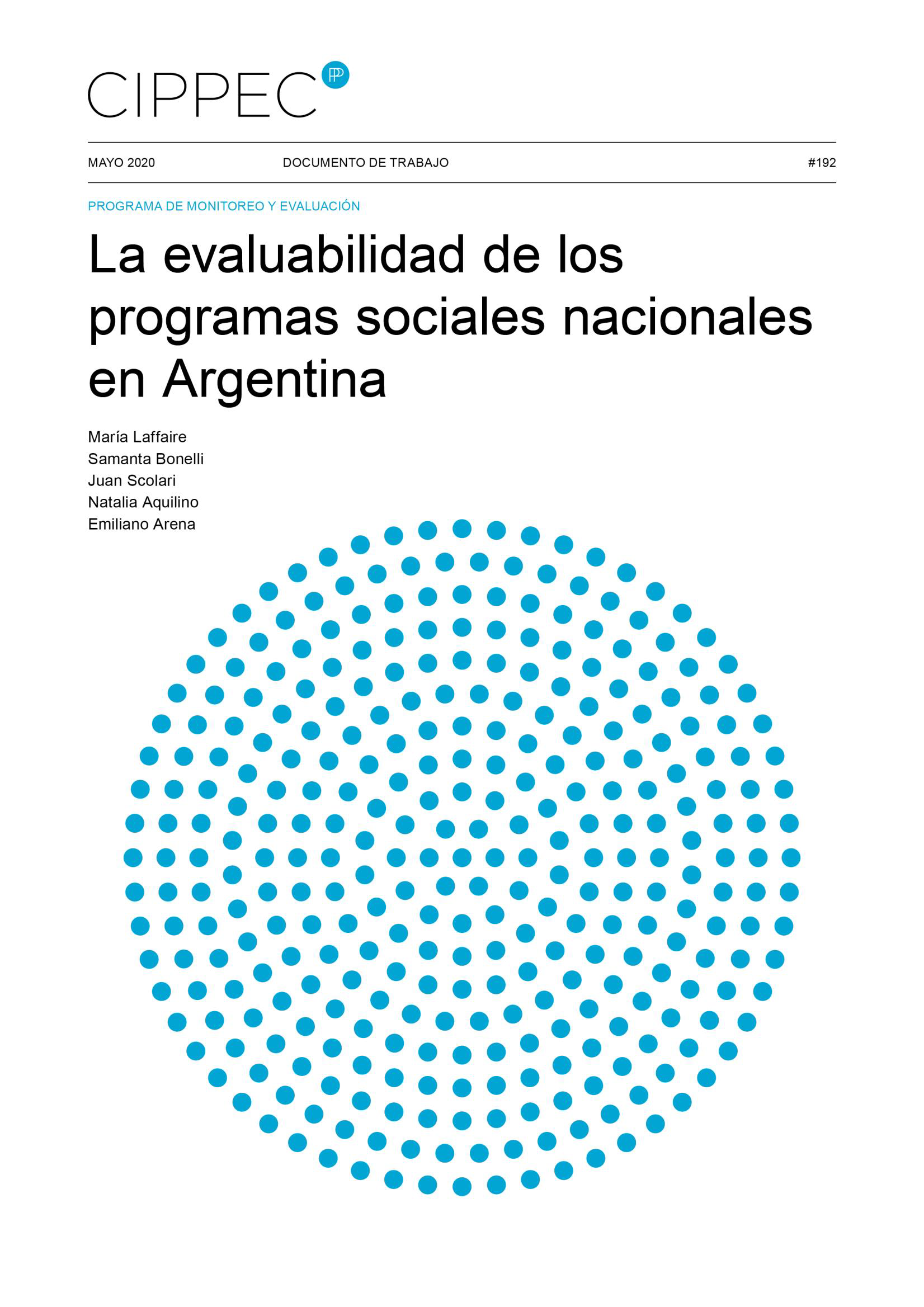 cippecEvaluabilidadProgramasArgentina